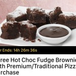 DEAL: Domino's – Free Choc Fudge Brownies with Traditional/Premium Pizza (18 April)