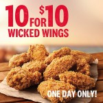 DEAL: KFC – 10 Wicked Wings for $10 with App (22 May 2019)