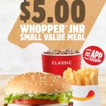 DEAL: Hungry Jack's App – $5 Whopper Junior Small Meal