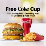 DEAL: McDonald's – Free Aluminium Coke Cup with Big Mac Meal (starts 8 January 2020)