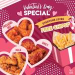 DEAL: Nene Chicken – Free Chips with Any Swicy, Mala or Freaking Hot Chicken (12-4pm 14-16 February 2020)