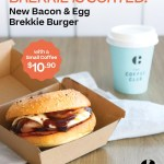DEAL: The Coffee Club – $10.90 Bacon & Egg Brekkie Burger + Small Coffee Combo