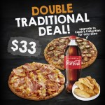 DEAL: Pizza Capers – 2 Large Traditional Pizzas, Calzone & 1.25L Drink for $33 + More Deals