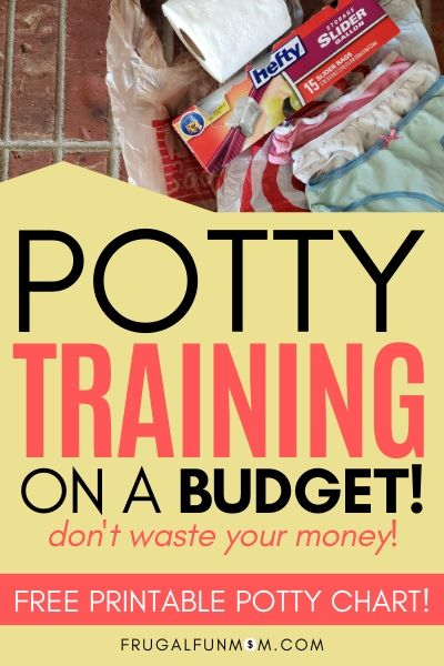 Potty Training On A Budget - Don't Waste Your Money | Frugal Fun Mom
