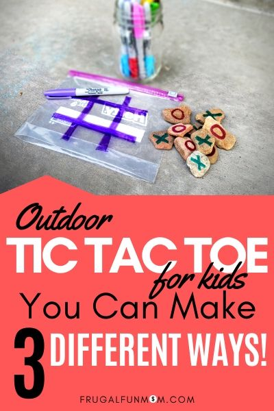 Kids Outdoor Tic Tac Toe You Can Make 3 Easy Ways | Frugal Fun Mom