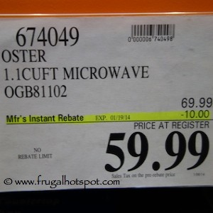oster 1 1 cu ft countertop microwave
