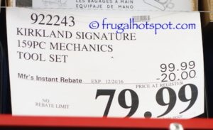 Kirkland Signature 159-Piece Mechanics Tool Set   Costco ... on Costco Furniture Showroom Kirkland Washington id=29998