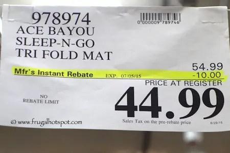 Ace Bayou Sleep N Go Portable Folding Mattress Costco Price