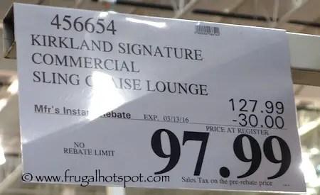 Costco Sale: Kirkland Signature Commercial Sling Chaise ... on Costco Furniture Showroom Kirkland Washington id=42484