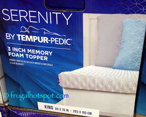 Costco Serenity By Tempur Pedic Memory Foam Mattress Topper
