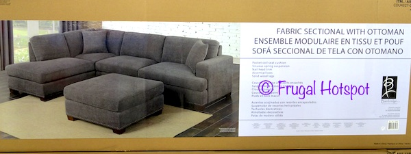costco bainbridge fabric sectional