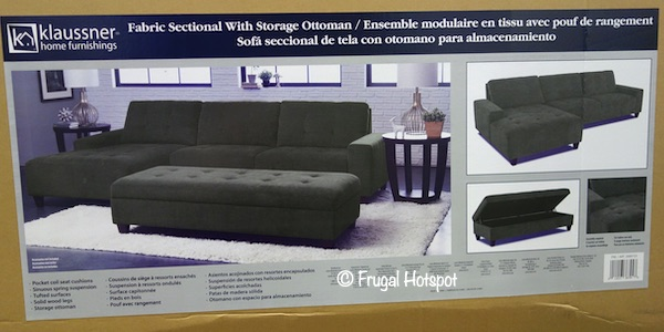 costco klaussner killian sectional