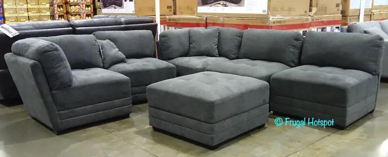 norris fabric modular sectional 6 pc