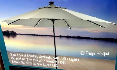 market tilt umbrella with led lights