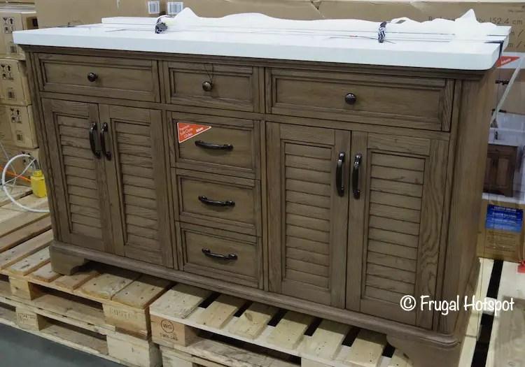 augusta brown double sink vanity at