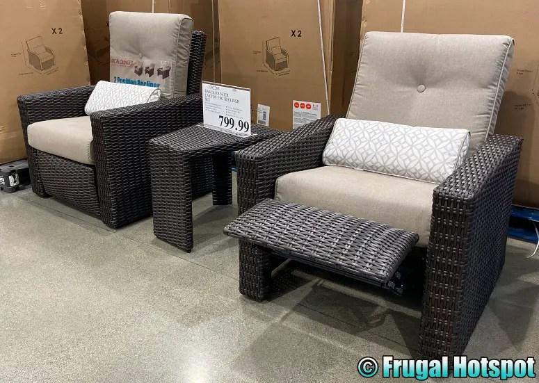 barcalounger outdoor recliner set at