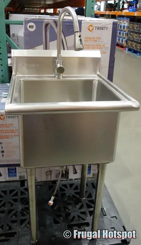 trinity stainless steel utility sink