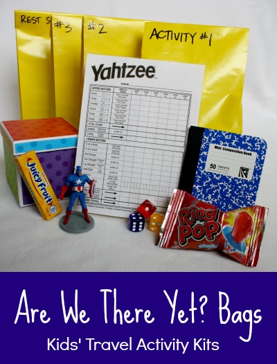 Are we there yet? Bag. Kids travel activity kits