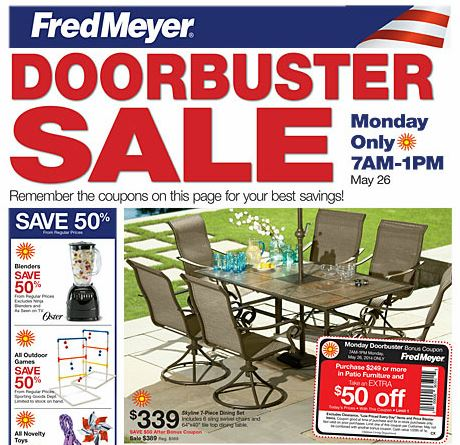 fred meyer memorial day doorbuster sale 7 am 1 pm frugal living nw
