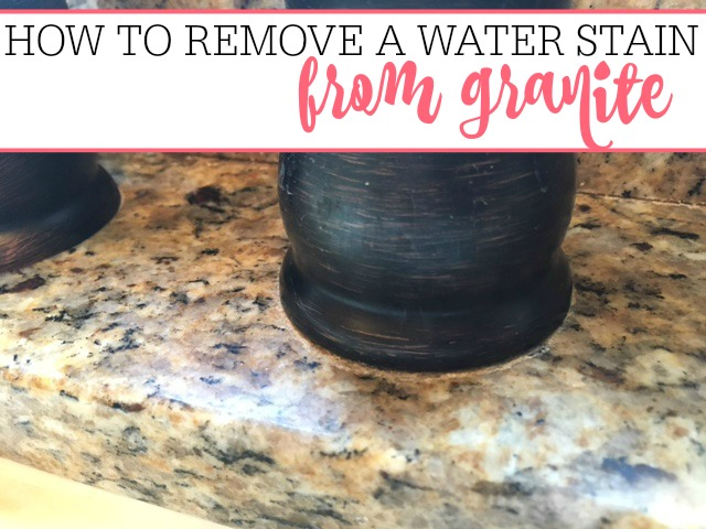 How To Remove A Water Stain On Granite - Frugally Blonde on Black Granite Stain  id=82330