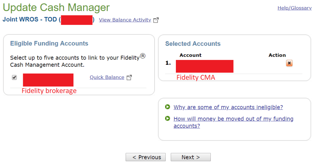 Cash Management, Emergency Funds, Using Fidelity as a Bank