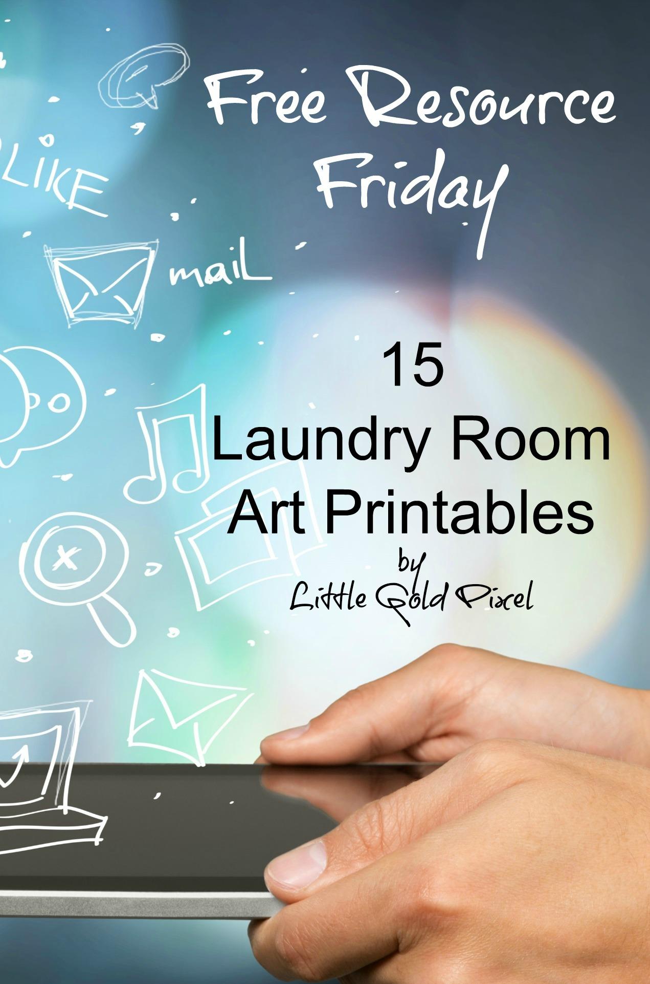 Laundry Room Free Printables