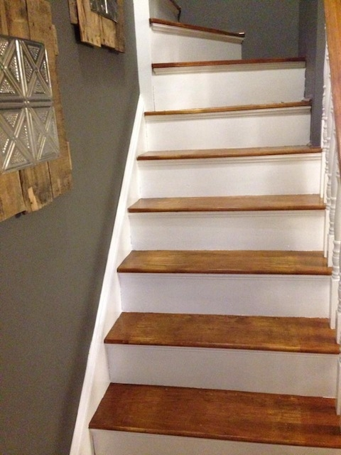 How To Refinish A Staircase For Under 50 Frugalwoods | Cost To Refinish Stair Railing | Hardwood Stairs | Gel Stain | Wood | Sanding | Stair Case