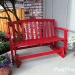 Porch Bench Update -Furniture update with fresh paint