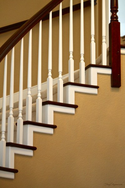 Home Improvement on a Budget, Staircase Makeover by FrugElegance.com