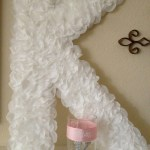 DIY Rose Petal Initial Sign -easy & so inexpensive to make!