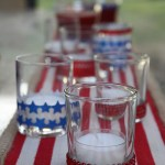 Easy to Decorate Votive Candles – for 4th of July