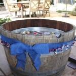 Wine Barrel Beverage Tub – outdoor parties