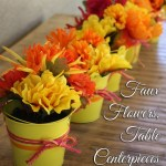 Flower Party Centerpieces – using faux flowers