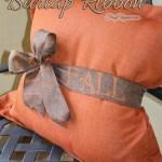DIY FALL Burlap Ribbon