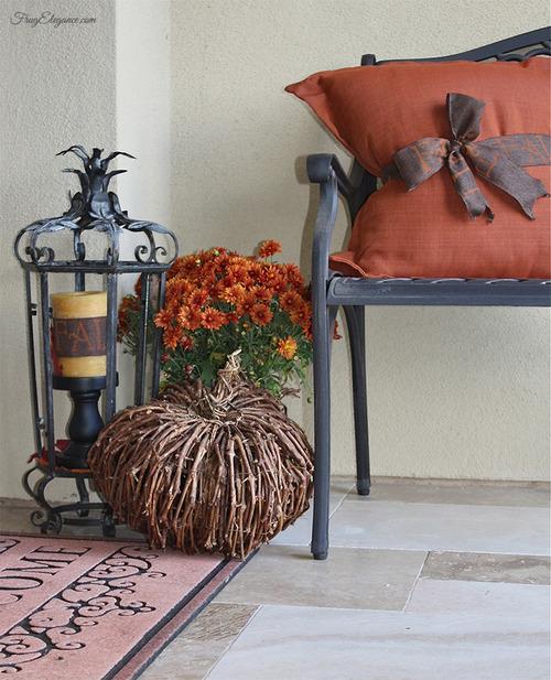 Fall Porch & Courtyard Home Decor