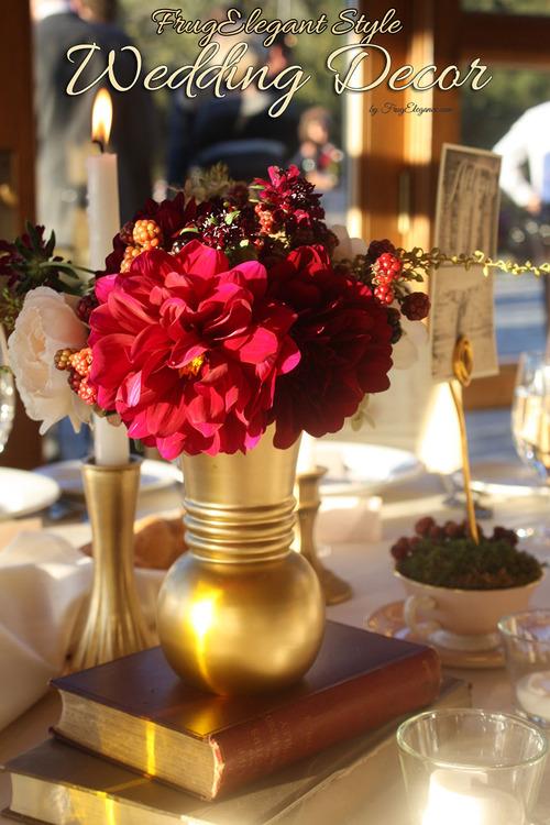 Do It Yourself Elegant Wedding Decor Frugelegance