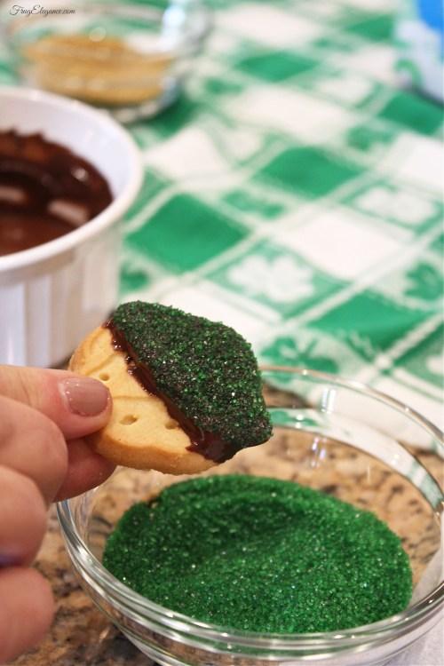 Girl Scout St. Patty's Dessert | FrugElegance | www.frugelegance.com