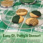 Easy St Patty's Dessert Chocolate Dipped Girl Scout Cookies