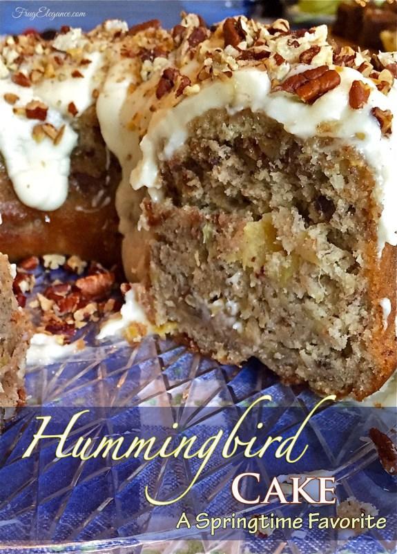 Springtime Favorite - Hummingbird Cake | www.frugelegance.com
