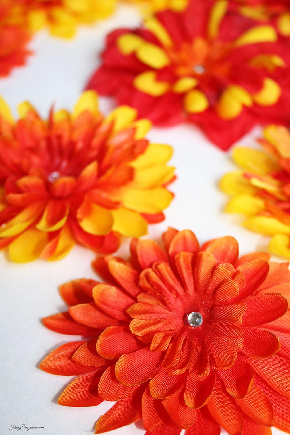 Diy Flower Hair Clips Frugelegance