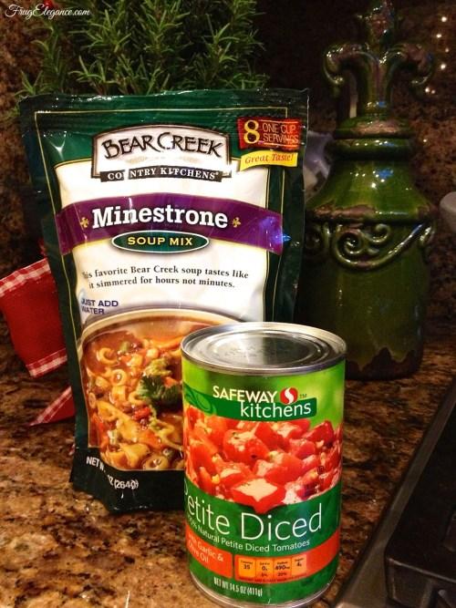 30 Minute Minestrone Soup | FrugElegance | www.frugelegance.com