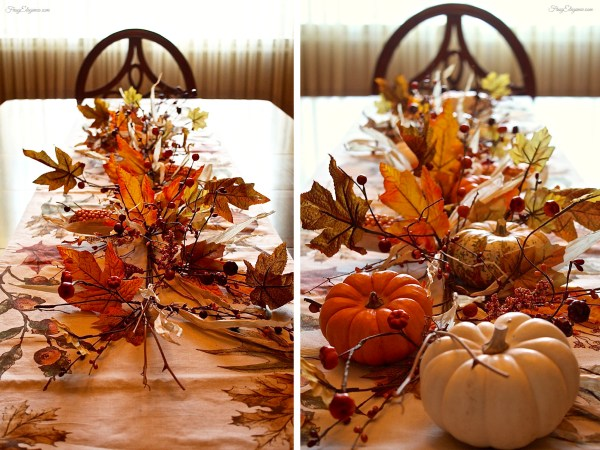 Easy Fall Table Centerpiece by FrugElegance.com