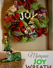 A Christmas Joy Marquee Wreath
