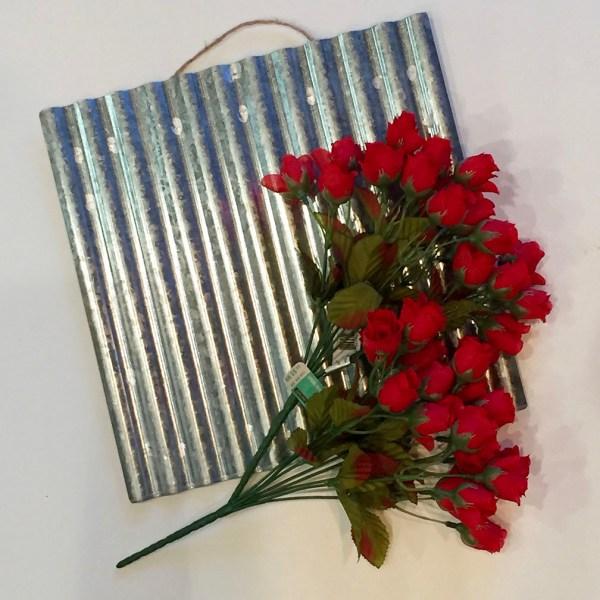Super Easy Rose Heart Sign | FrugElegance | www.frugelegance.com