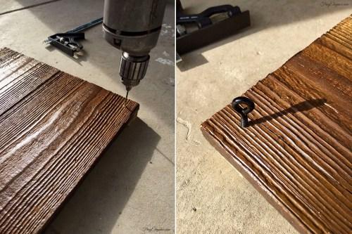 Rustic Headboard & Hanging Side Table   FrugElegance   www.frugelegance.com