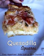 Baked Quesadilla Squares