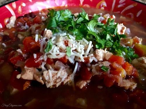 Crockpot Chicken Tortilla Soup | FrugElegance | www.frugelegance.com