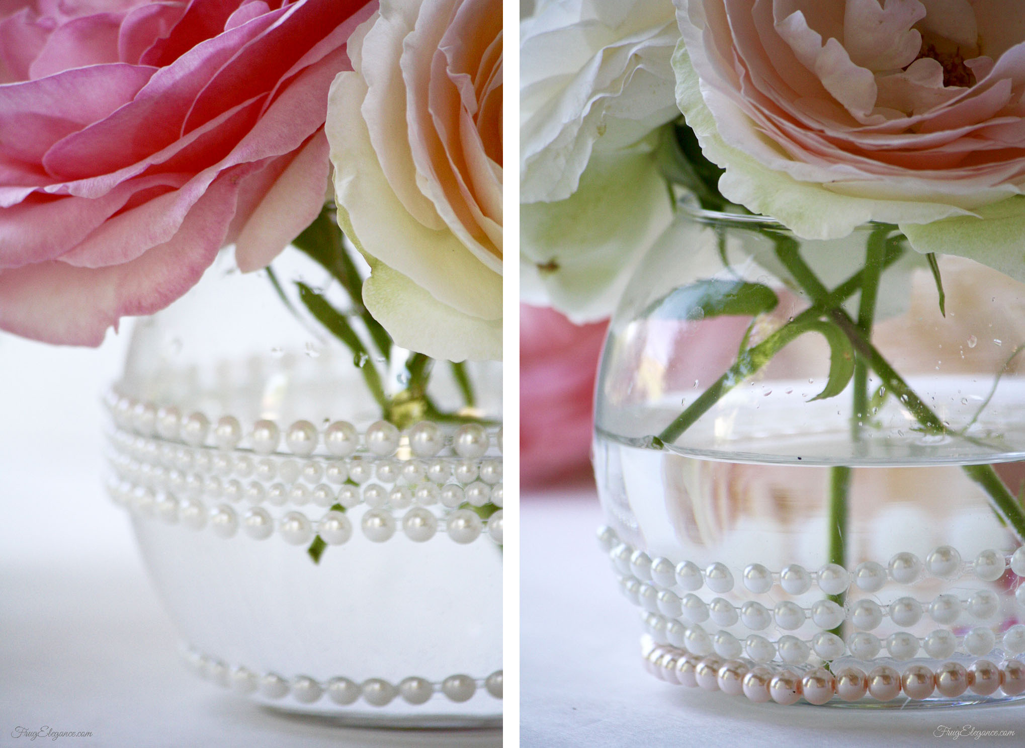 Elegant cheap flower centerpieces frugelegance these were used for a wedding weekend but they would be perfect for any bridal baby shower or any celebration creating elegant party decor doesnt have to izmirmasajfo