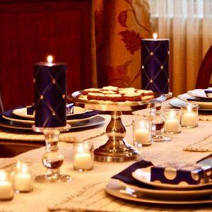 simpleandelegant is our hanukkah tablescape ontheblog hanukkahtable chanukah