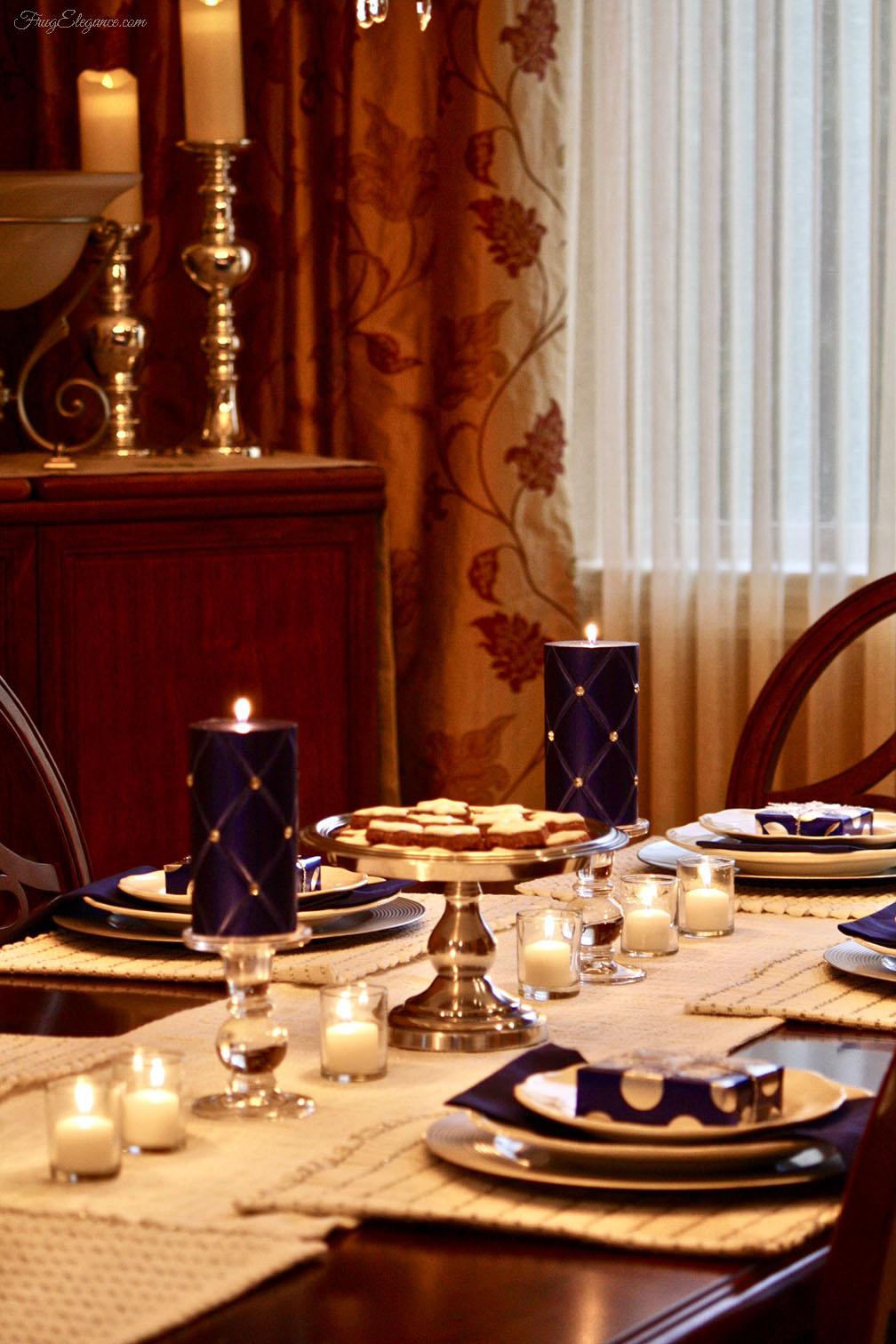 Simple Amp Elegant Hanukkah Tablescape Frugelegance